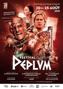 affiche XXXI<sup>e</sup> Festival du film Peplum