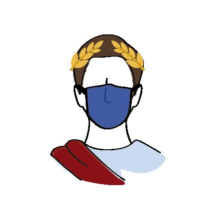 Port du masque peplum